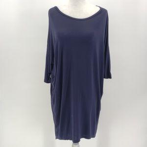 Rare Lularoe solid navy blue shirt dress XS